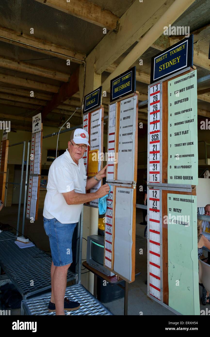 Australia Day races at Kilcoy Stock Photo