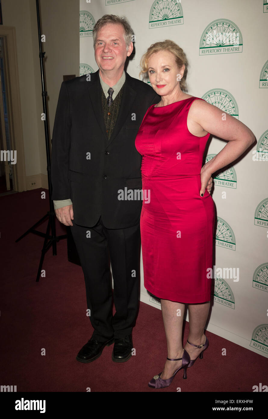 New York, NY - June 08, 2015: Claran O'Reilly and J. Smith-Cameron attend the Irish Repertory Theatre's - Stock Image