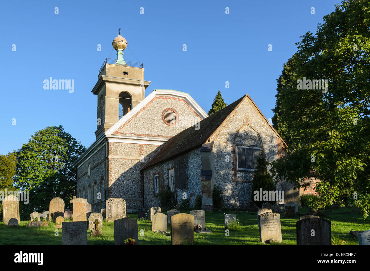St Lawrence Church, West Wycombe, England, UK is reputed to have be the meeting place for the notorious Hellfire - Stock Image