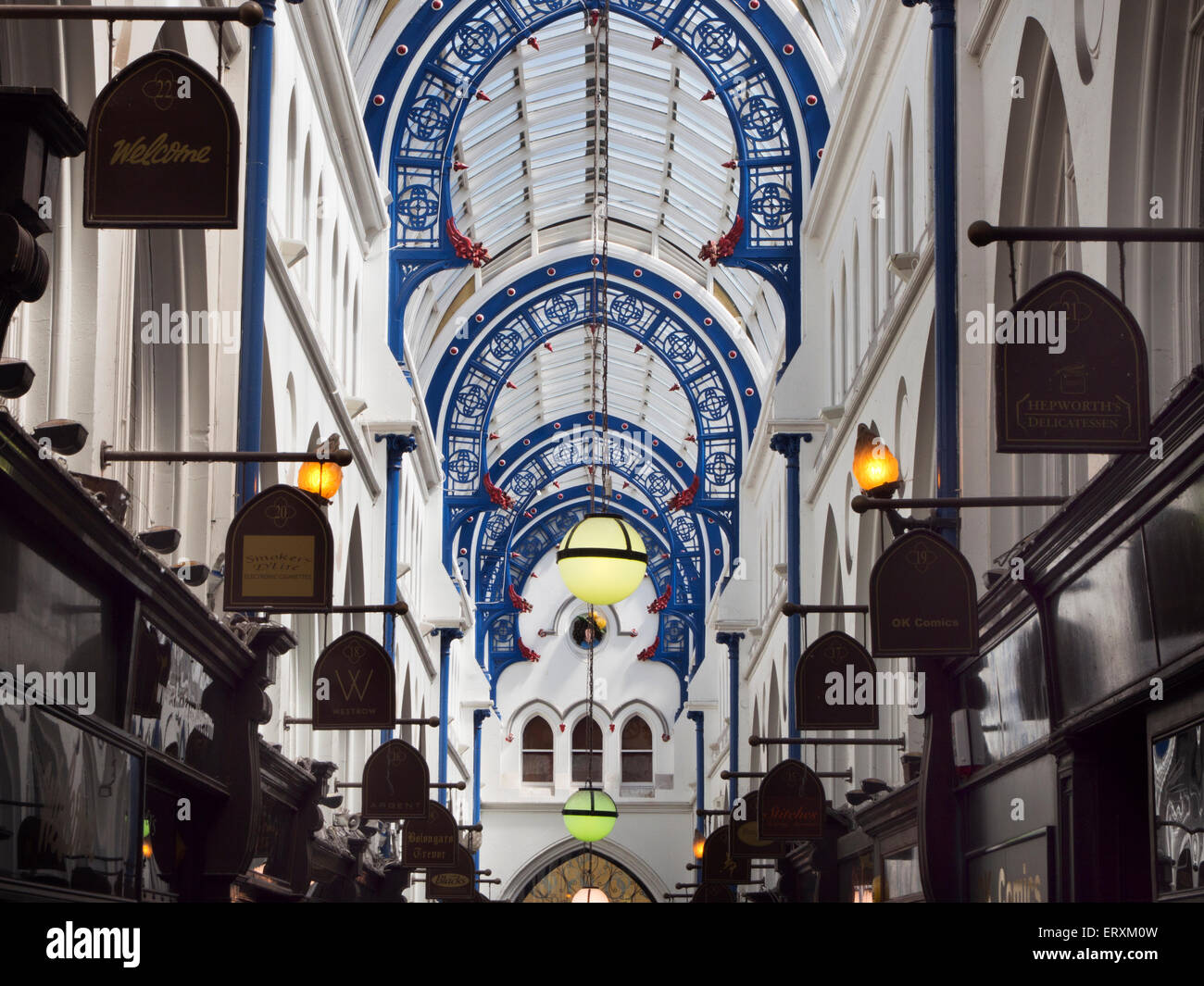 Thorntons Arcade in the Victoria Quarter Leeds West Yorkshire England - Stock Image