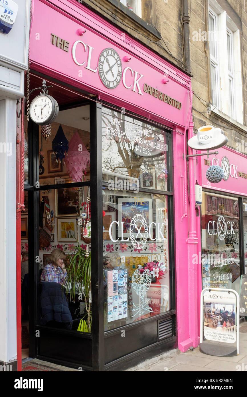 Cafe in Morningside Road, Edinburgh. - Stock Image