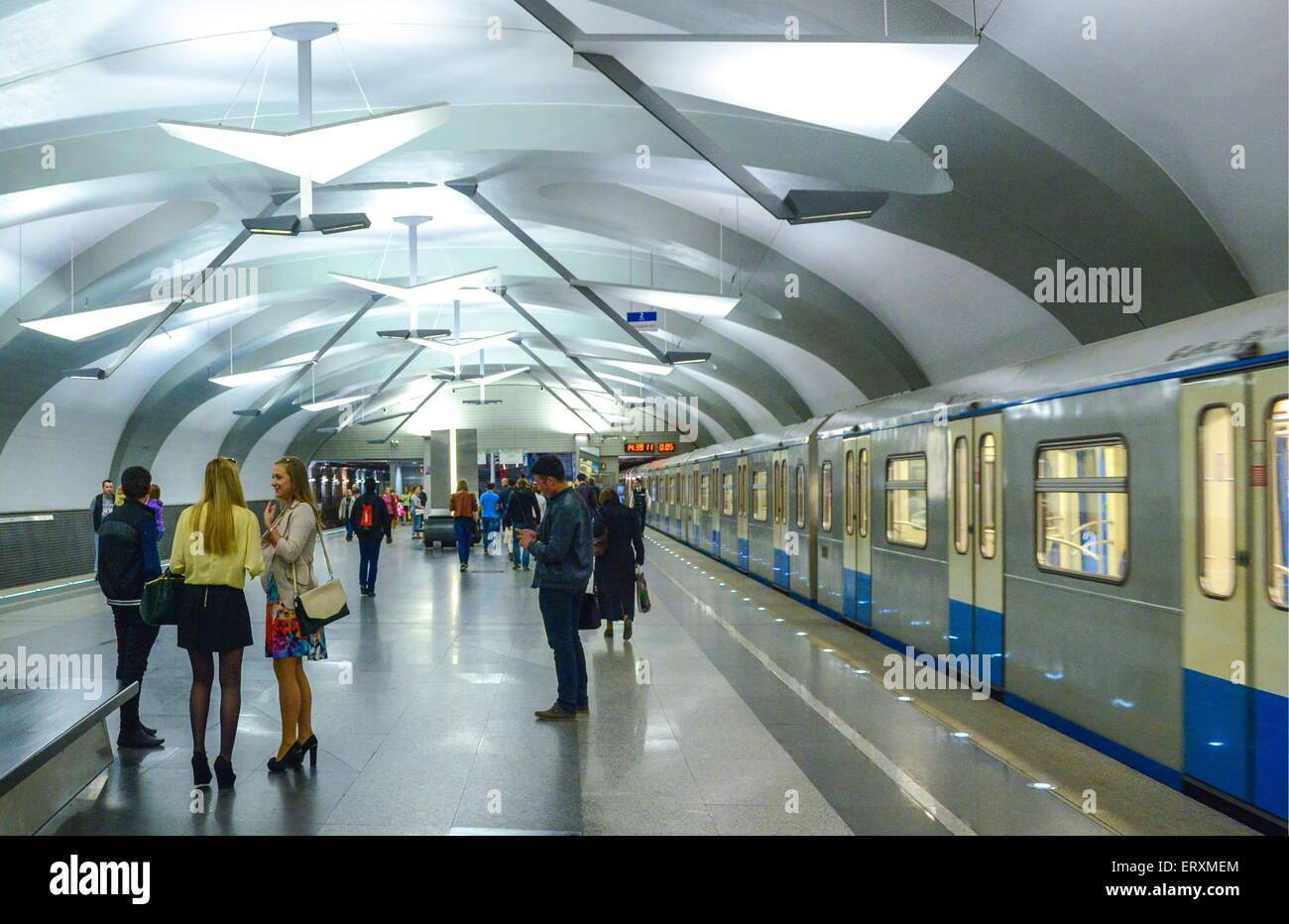 The metro station Novokosino. Metro in the Novokosino district