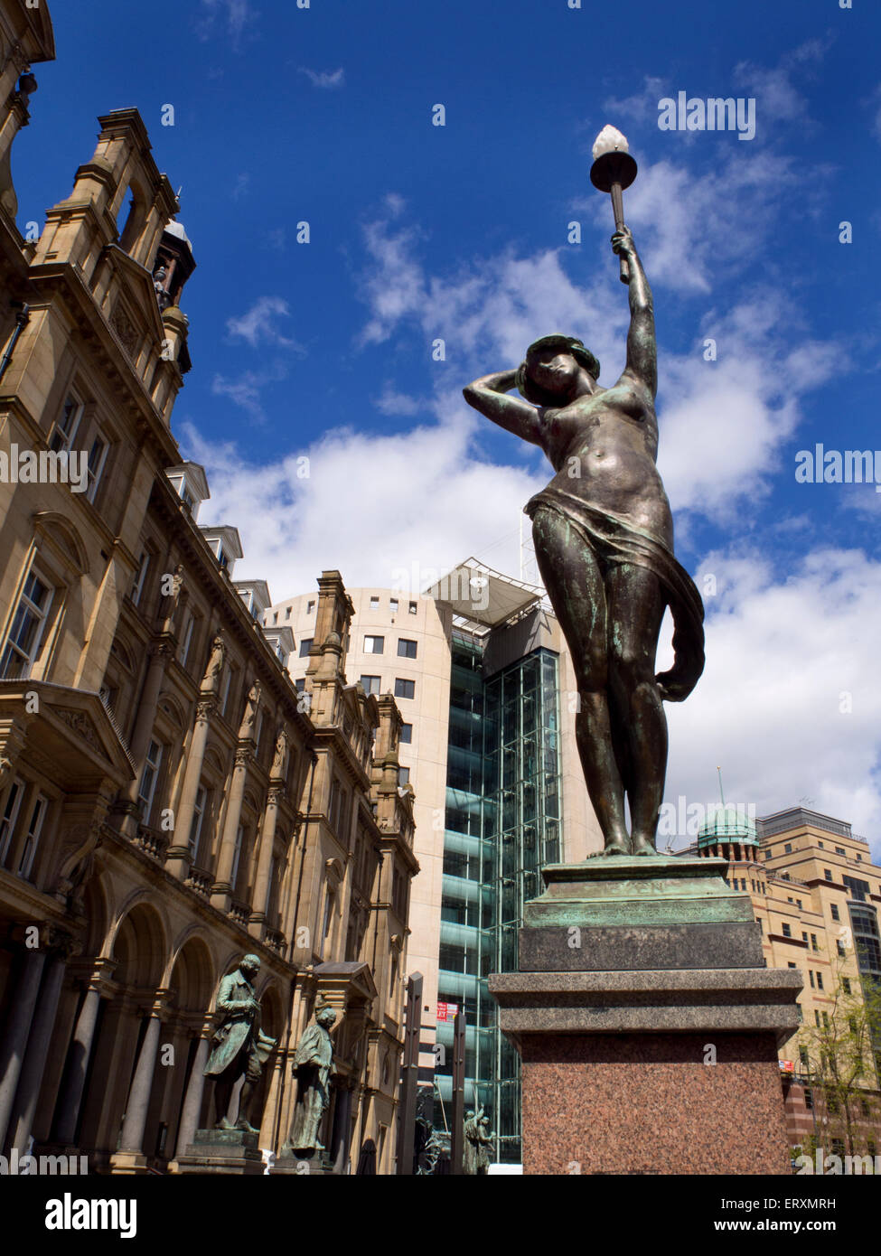 Even Statue in City Square Leeds West Yorkshire England - Stock Image