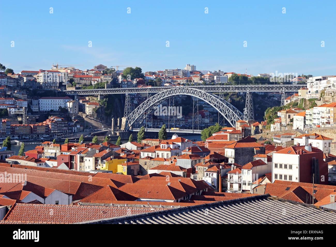 Dom Lus Bridge Oporto - Stock Image