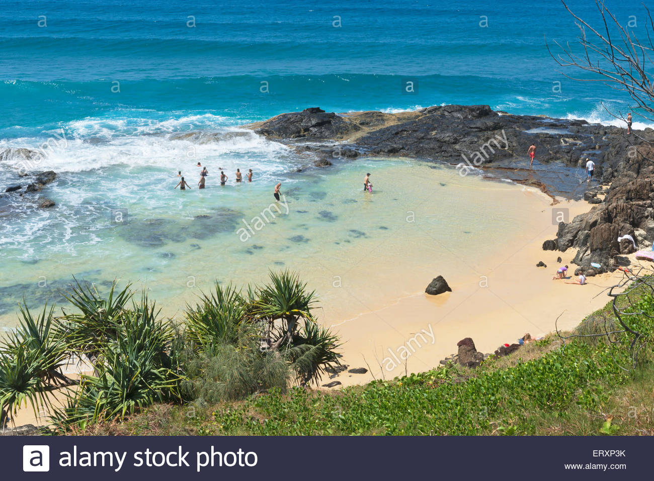 Champagne pools, Fraser Island, Queensland, Australia, - Stock Image