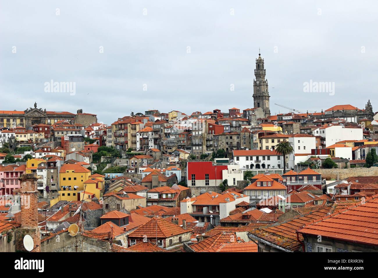 Oporto rooftop - Stock Image