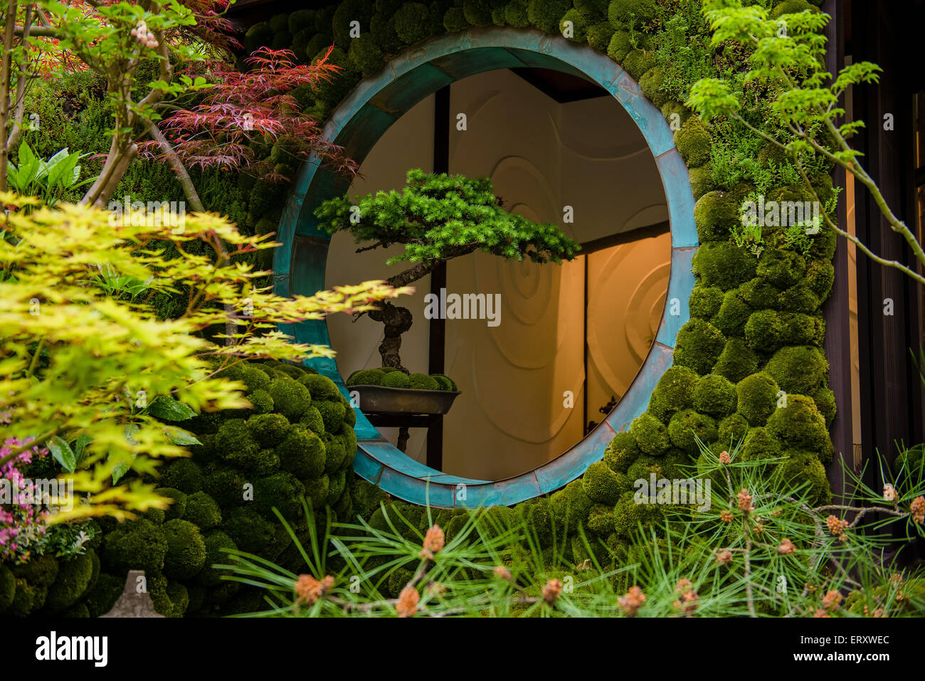 Edo no Niwa - Edo Garden by Ishihara Kazuyuki Design Laboratory, Chelsea Flower Show 2015 - Stock Image