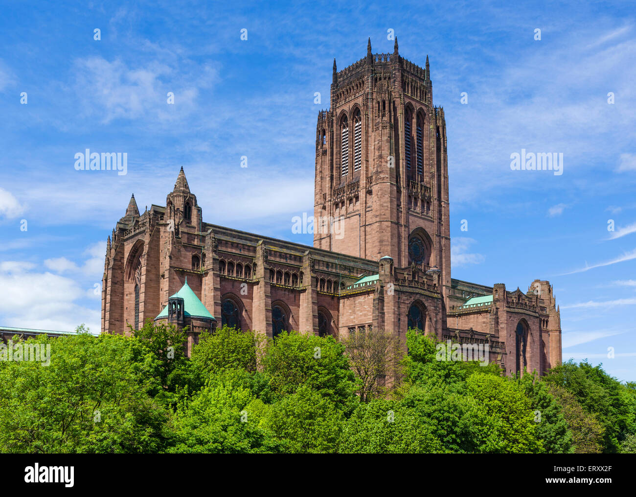 Liverpool Anglican Cathedral, Liverpool, Merseyside, England, UK - Stock Image