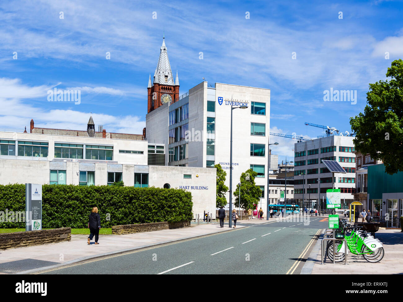 Campus of the University of Liverpool, Mount Pleasant, Liverpool, Merseyside, England, UK - Stock Image