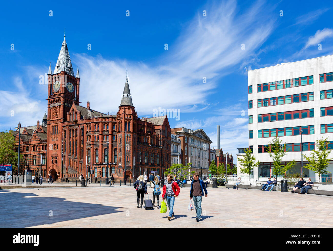 University of Liverpool looking towards the Victoria Building, Brownlow Hill, Liverpool, Merseyside, England, UK - Stock Image