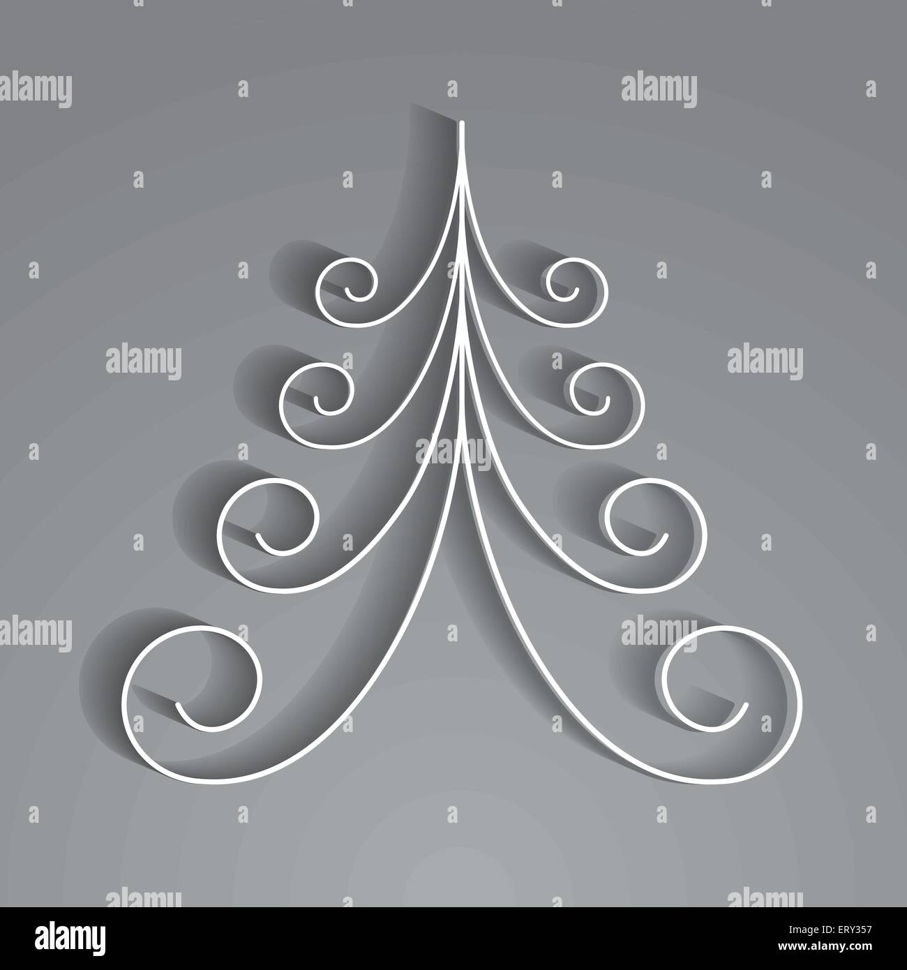 3d Paper Christmas Tree Template.White 3d Paper Christmas Tree Rgb Eps 10 Vector Stock Vector Art