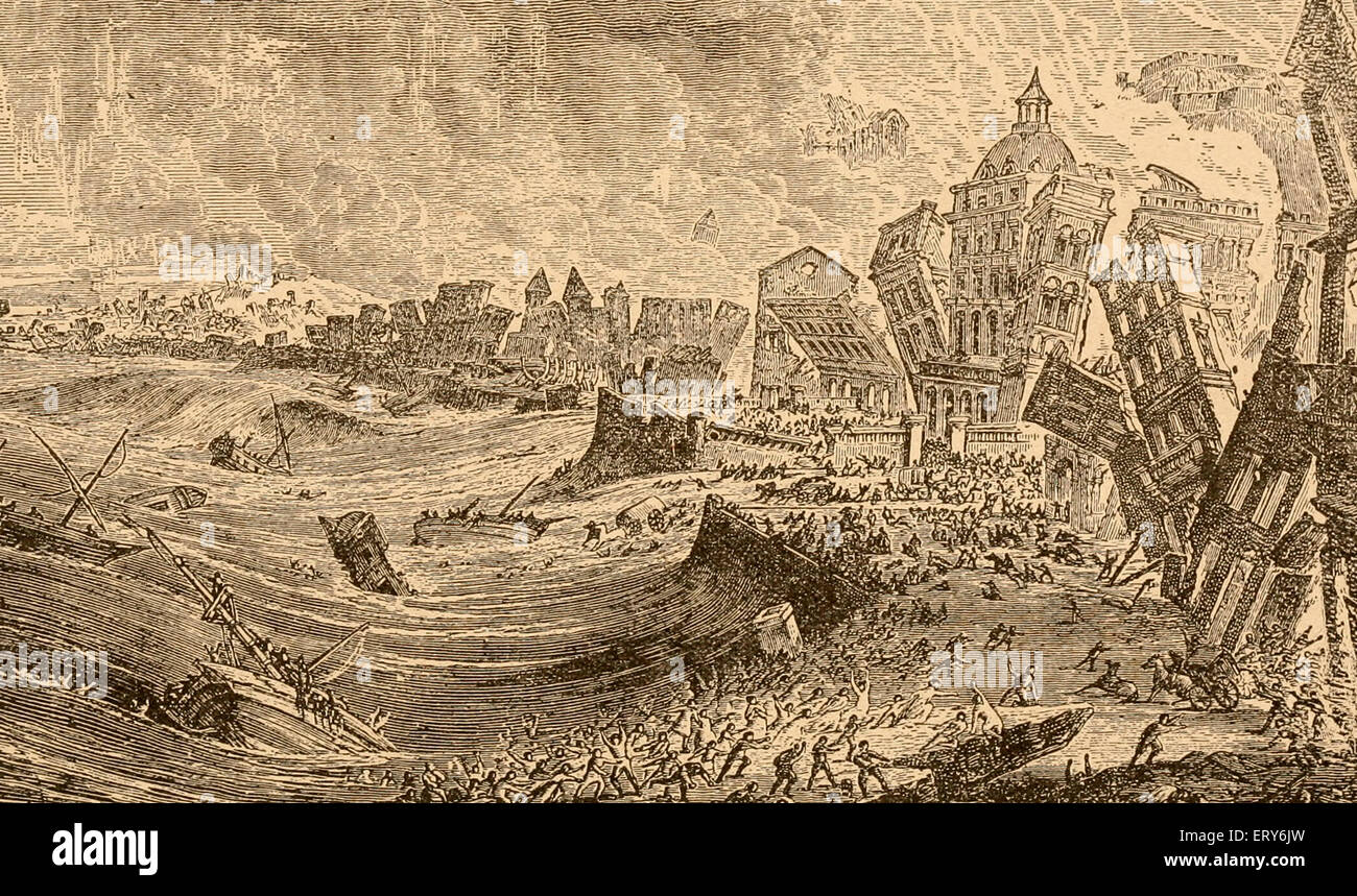 Earthquake at Lisbon, Portugal 1755