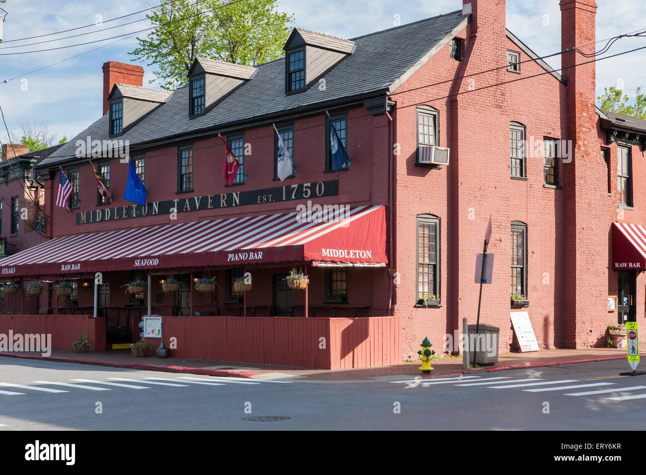 The historic Middleton Tavern in Annapolis, Maryland. - Stock Image
