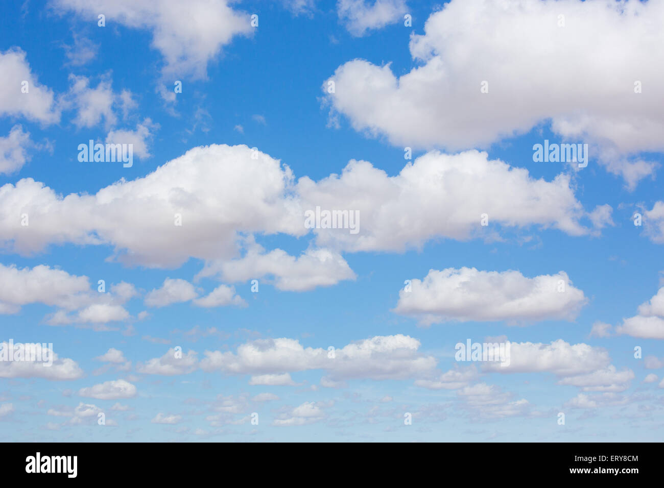 Blue sky and clouds, Australia - Stock Image