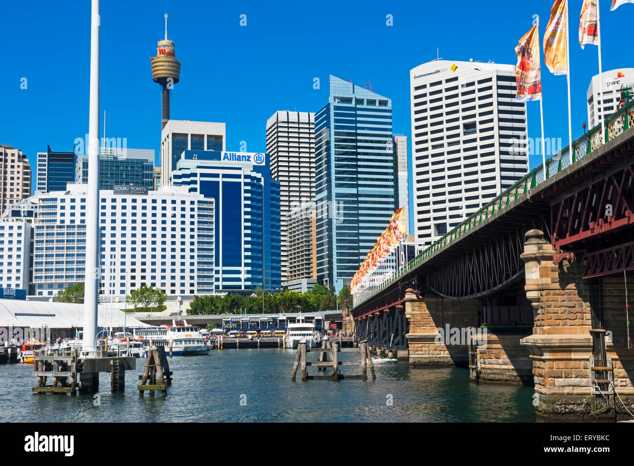Darling Harbour, Sydney, New South Wales, Australia, - Stock Image