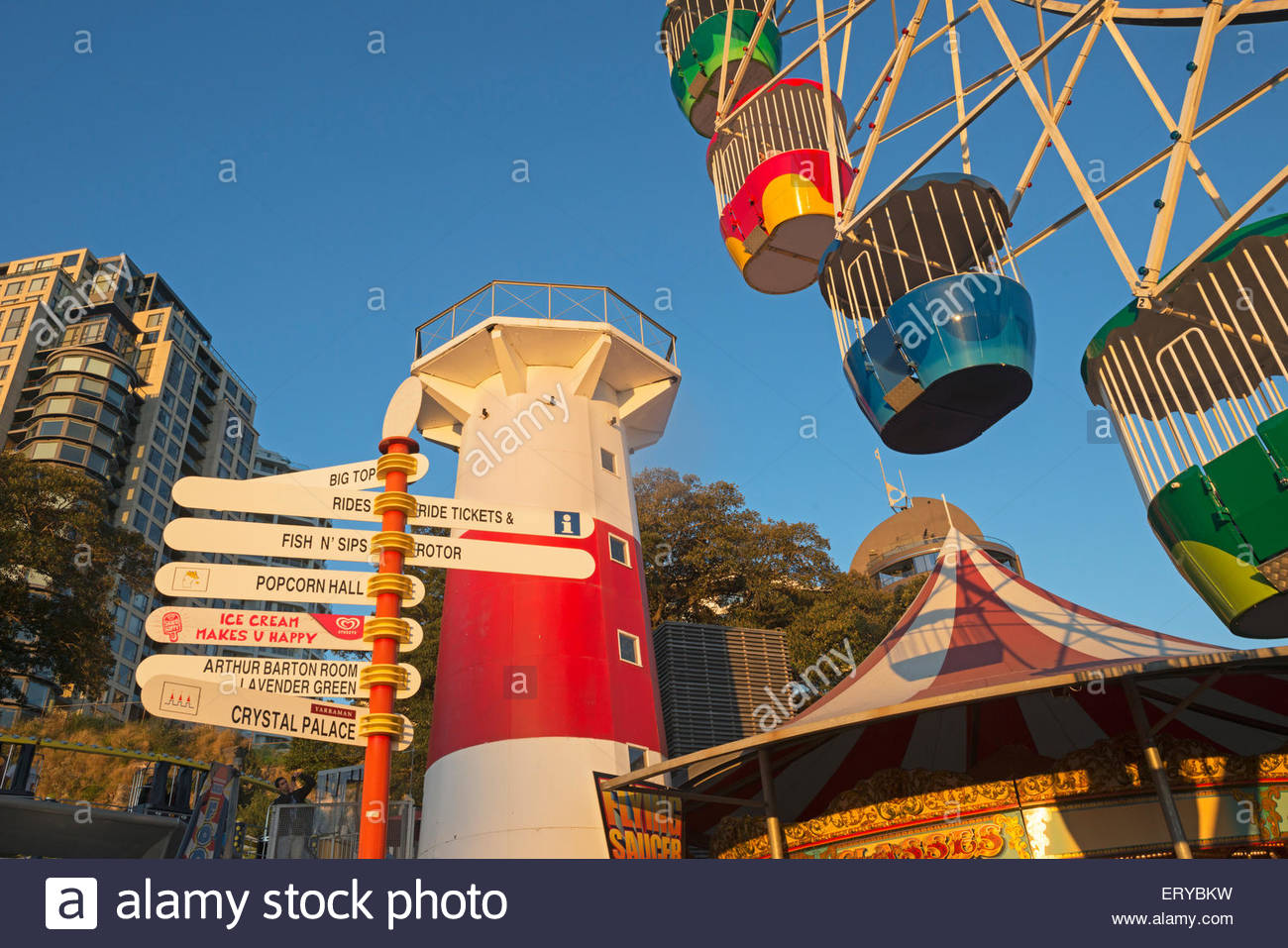 Luna Park, Sydney, New South Wales, Australia, - Stock Image