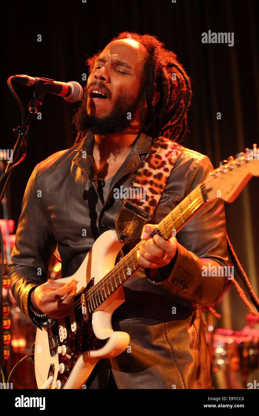 Ziggy Marley performs at the 17th Annual Samuel Waxman Cancer Research Foundation's Benefit Dinner and Auction at Stock Photo
