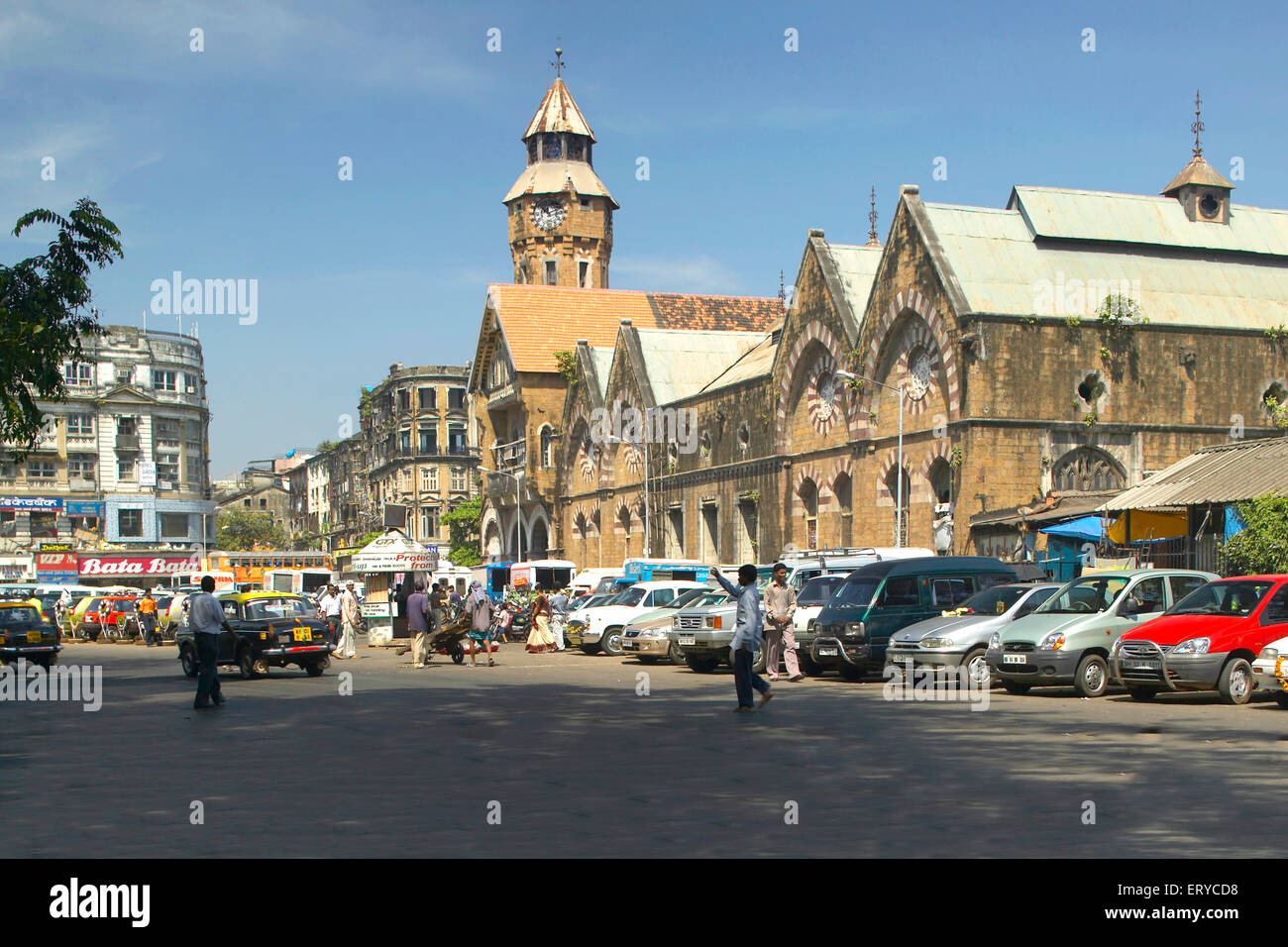 Picture  post card of heritage Crawford Market now Mahatma Phule market ; Bombay Mumbai ; Maharashtra ; India Stock Photo