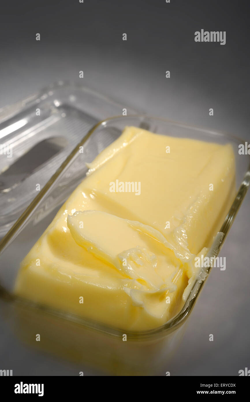 Kitchen things ; Butter in box ; Bombay Mumbai ; Maharashtra ; India - Stock Image