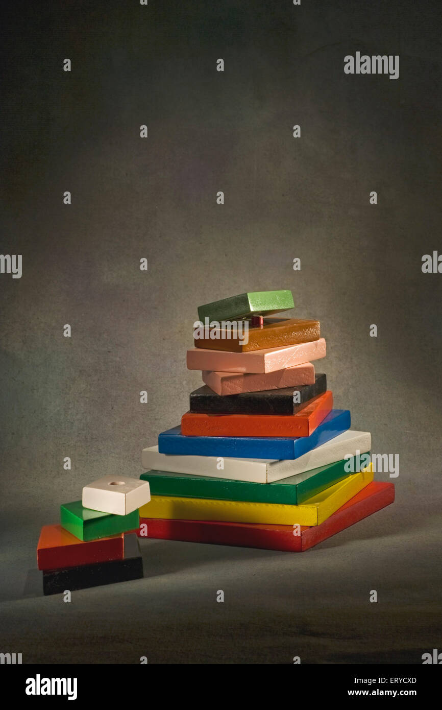 Concept ; learning ; blocks ; India - Stock Image