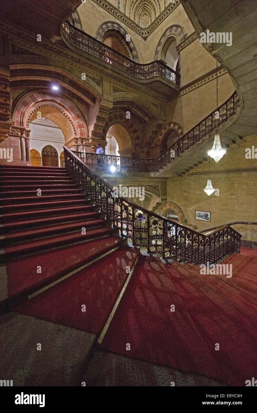 UNESCO World Heritage Chhatrapati Shivaji Terminus ; Bombay Mumbai ; Maharashtra ; India - Stock Image
