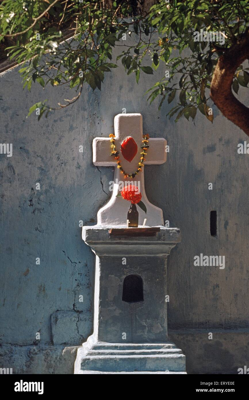Over architectural heritage ; CPA Piramal gallery in Mumbai ; first religion fusion Panaji ; Goa ; India 1995 - Stock Image