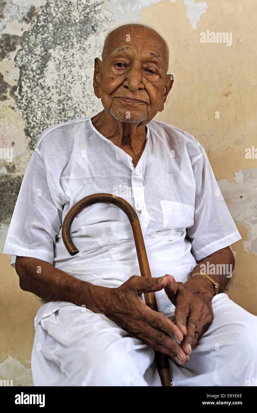 Freedom fighter Gandhian Yashwant Parekh ; Bombay Mumbai ; Maharashtra ; India - Stock Image