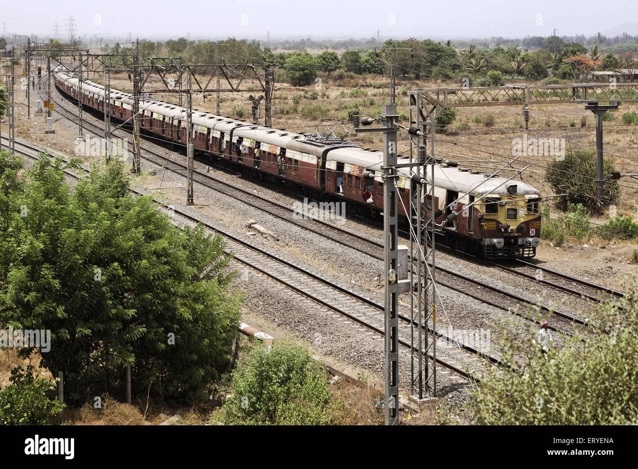Suburban electric train ; Maharashtra ; India Stock Photo