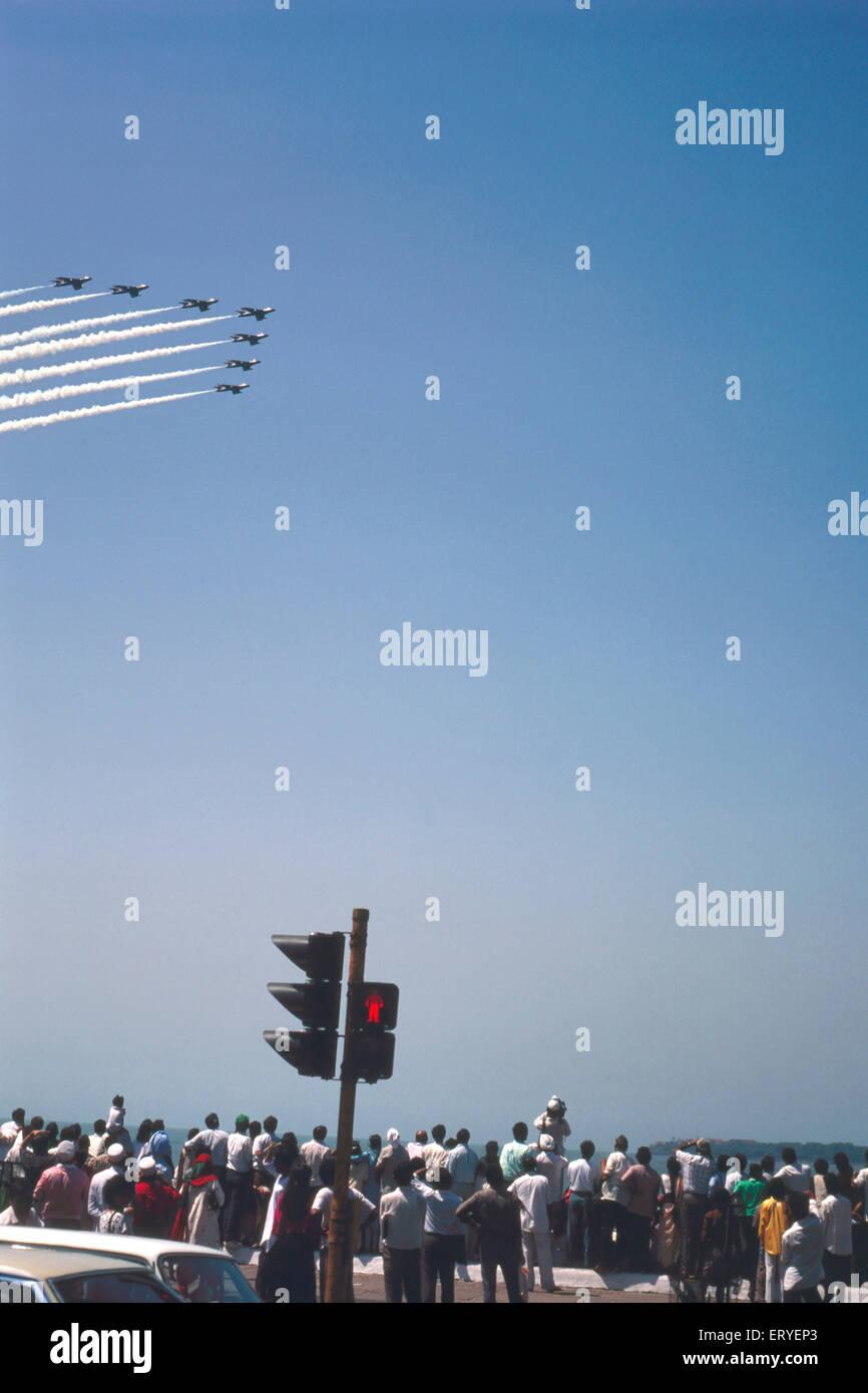 Jetfighter planes in Air Show ; Bombay Mumbai ; Maharashtra ; India - Stock Image