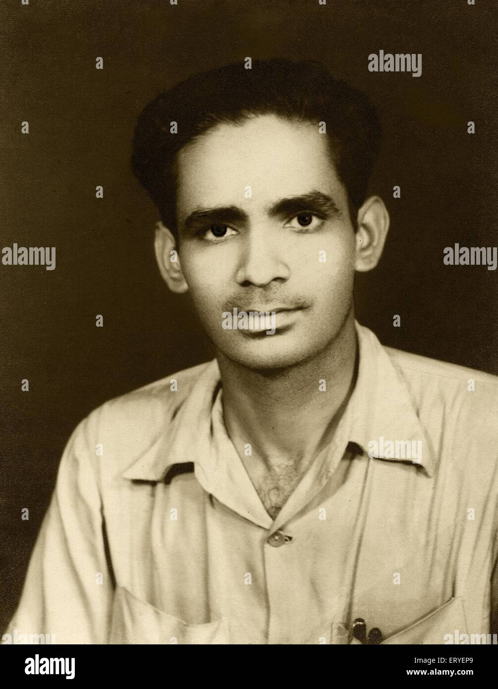 Old studio photograph of Arvind Dave MR#767 1946 - Stock Image