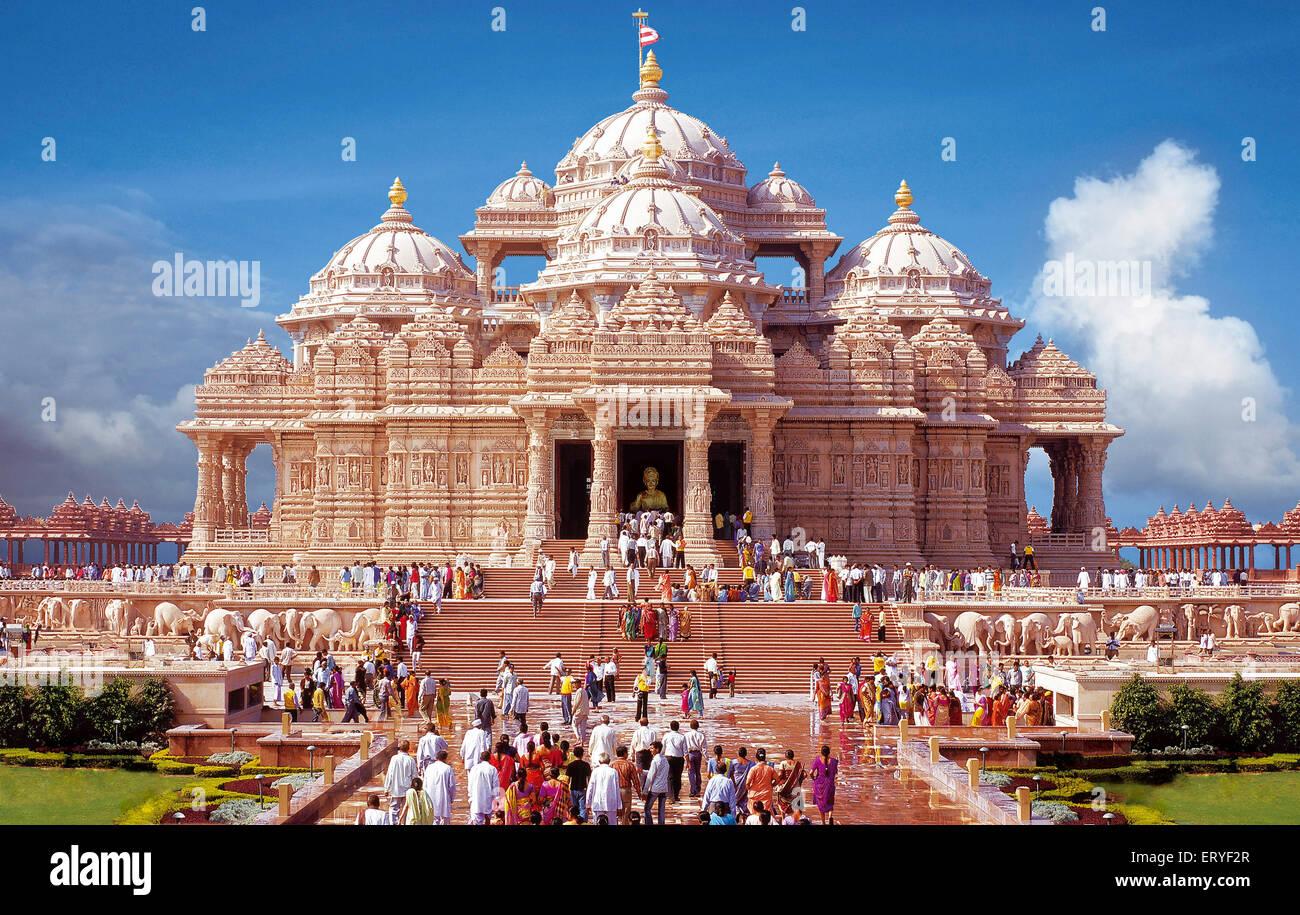 Swaminarayan temple Akshardham New Delhi India - aad 163937 - Stock Image