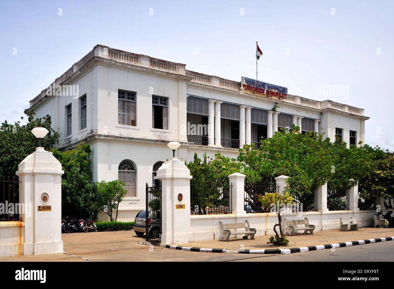 Municipality office ; Pondicherry Puducherry Union Territory ; India - Stock Image