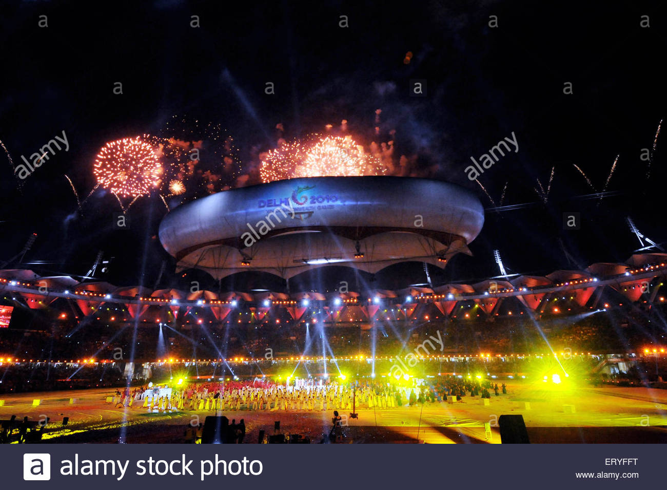 Opening ceremony of nineteen commonwealth games New Delhi India - Stock Image