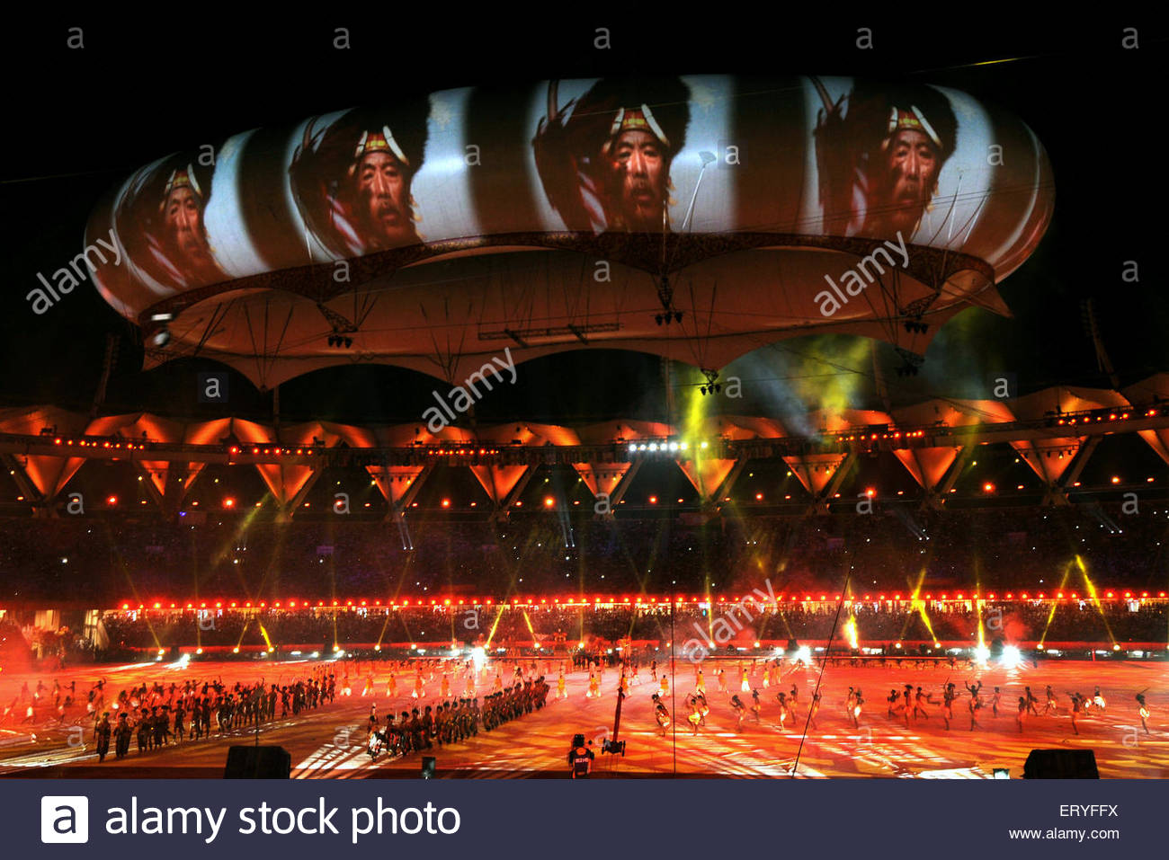 Opening ceremony of nineteen commonwealth games ; New Delhi ; India - Stock Image