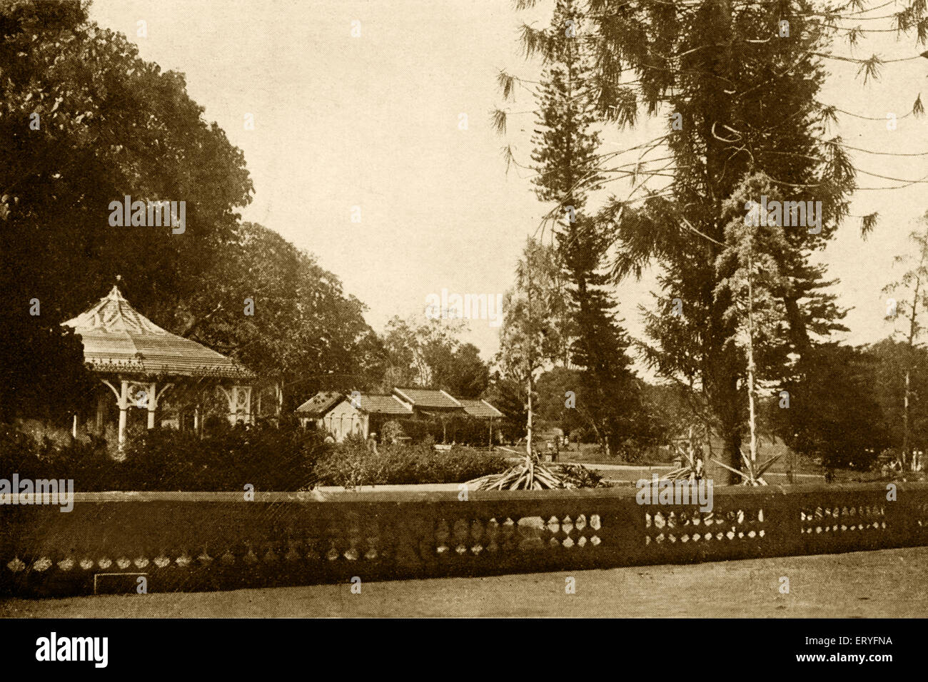 Old bandstand in lalbagh botanical gardens ; Bangalore ; Karnataka ; India - Stock Image