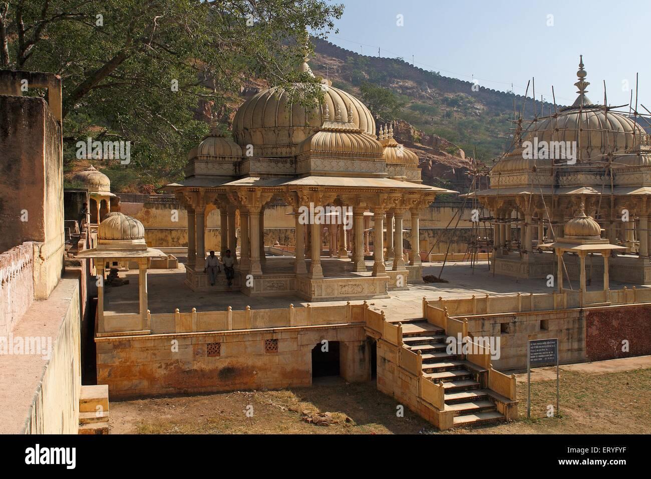 Sawai jai singh cenotaph royal getore gaitor ; Jaipur ; Rajasthan ; India - Stock Image