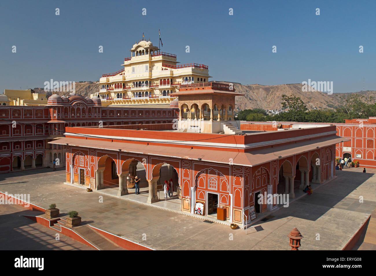 aad 170549 - Chandra Mahal in City Palace , Jaipur , Rajasthan , India - Stock Image