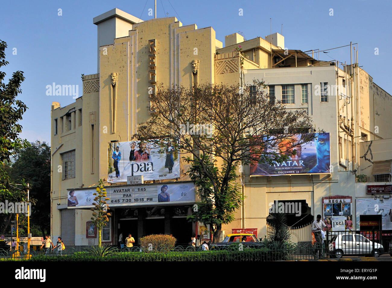 Regal theatre ; Bombay Mumbai ; Maharashtra ; India - Stock Image