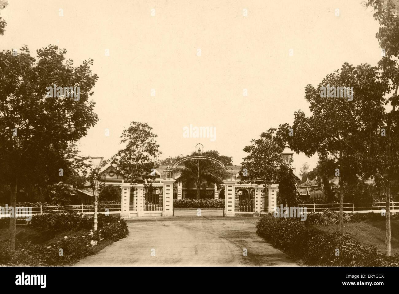 Old palace garage ; Mysore ; Karnataka ; India - Stock Image