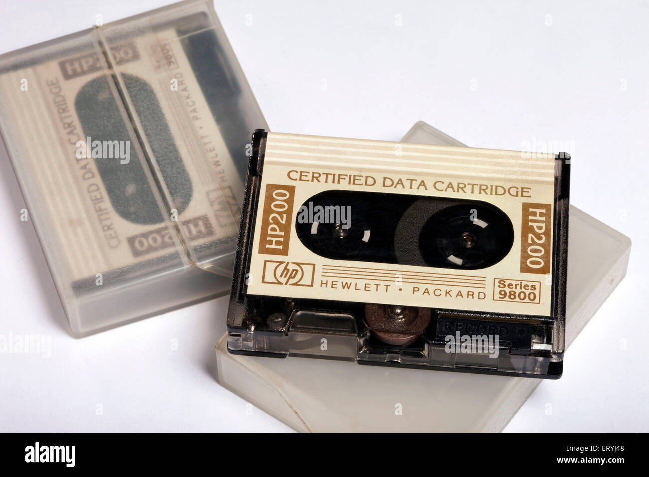 computer data storage mini magnetic tape India Asia - Stock Image