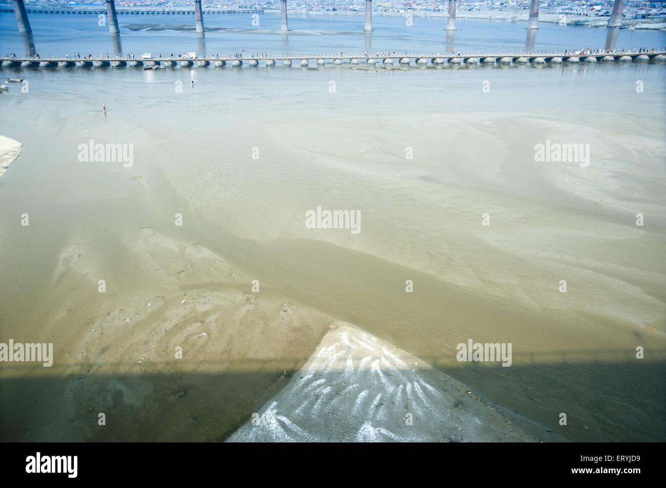 Pontoon Bridges at allahabad uttar pradesh India - Stock Image