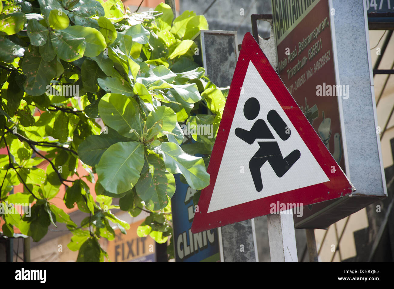 sign board on road India - Stock Image