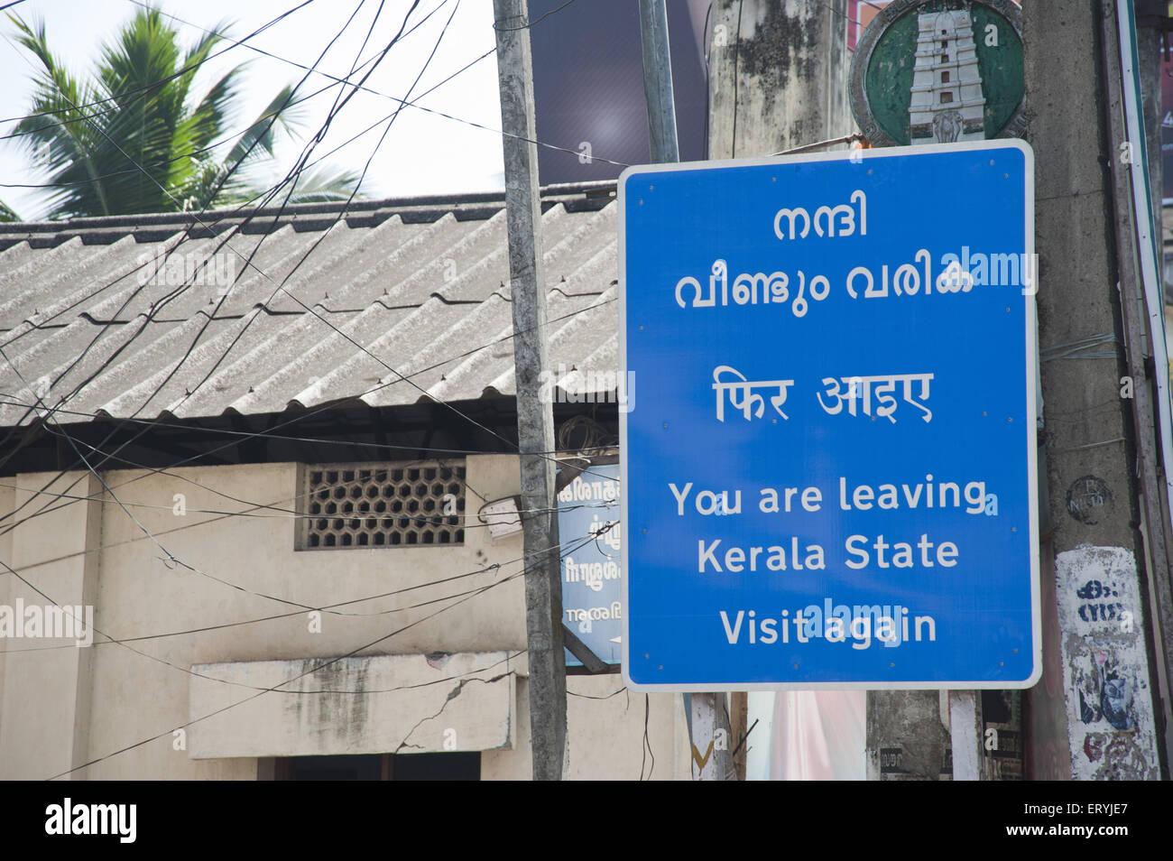 sign board in trivandrum at kerala India - Stock Image