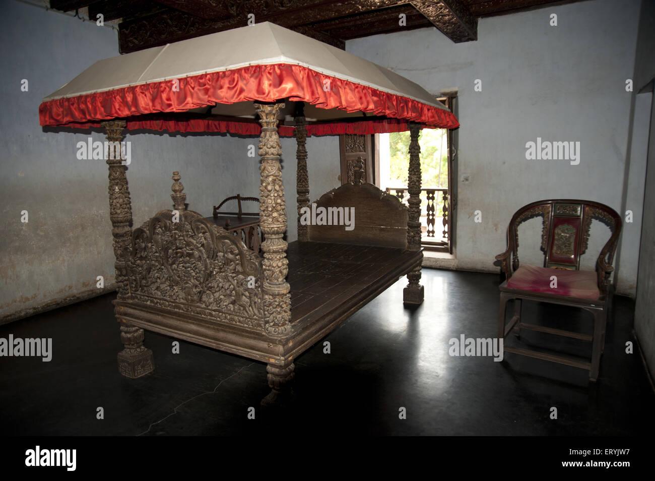 King Cot in Padmanabhapuram Palace at kerala India - Stock Image