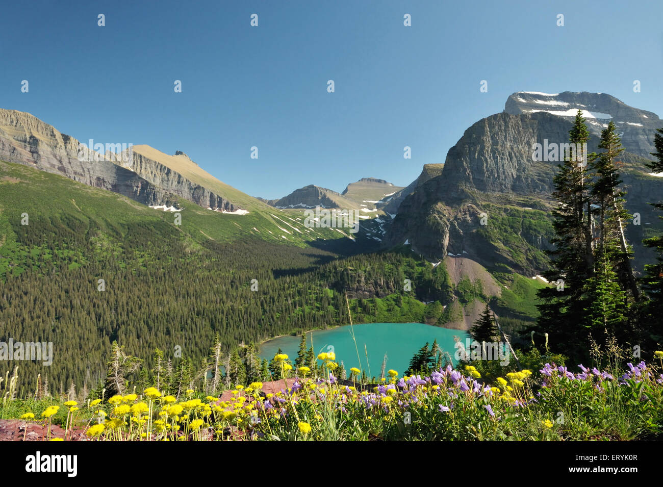 Mountains glaciers ; Glacier national park ; Montana ; USA United States of America - Stock Image