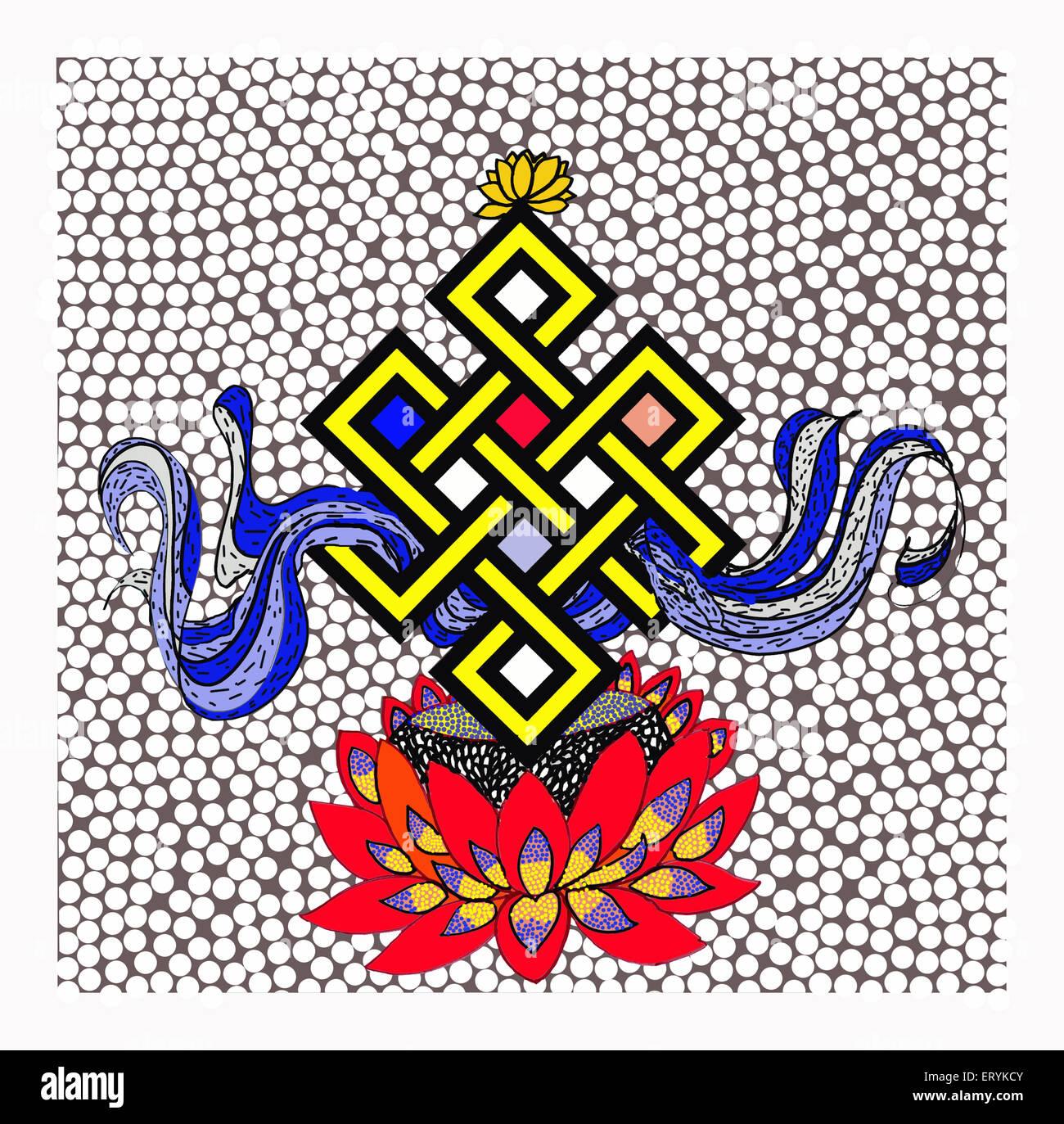 endless knot painting in mumbai at maharashtra India - Stock Image