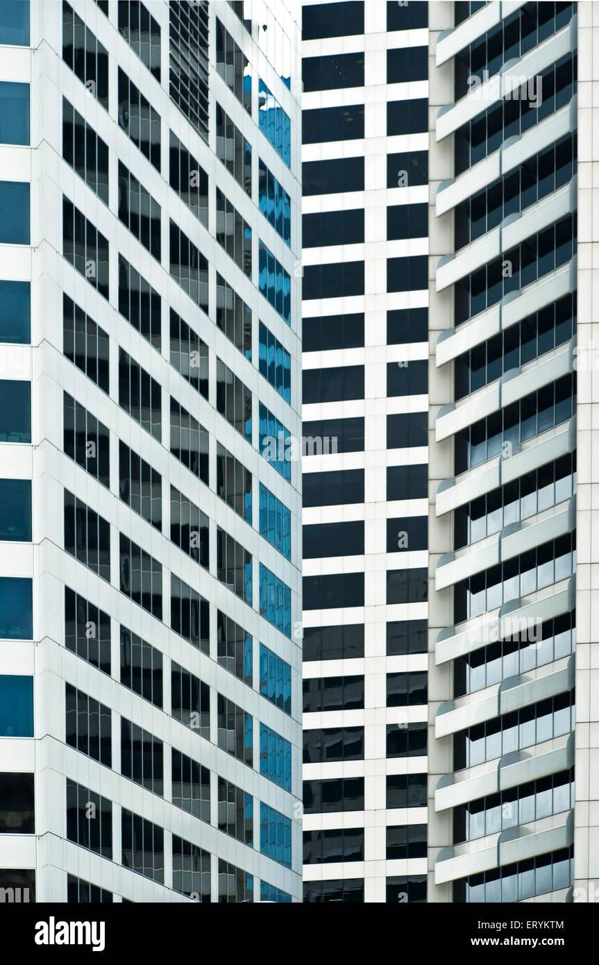 Glass window design pattern shape architecture form ; Sydney ; New South Wales ; Australia Stock Photo