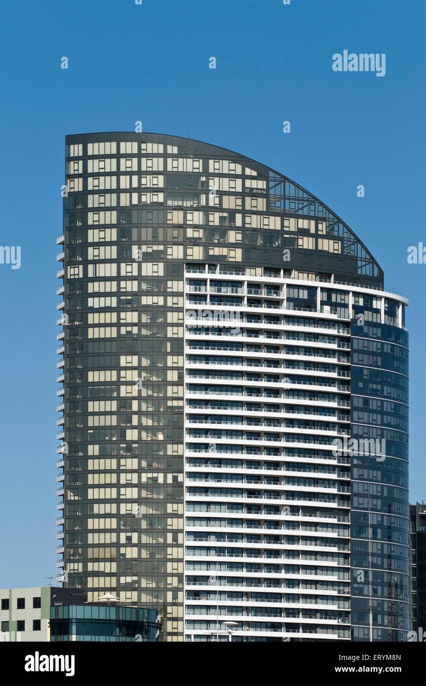 Designs in architecture form ; Melbourne ; Victoria ; Australia - Stock Image