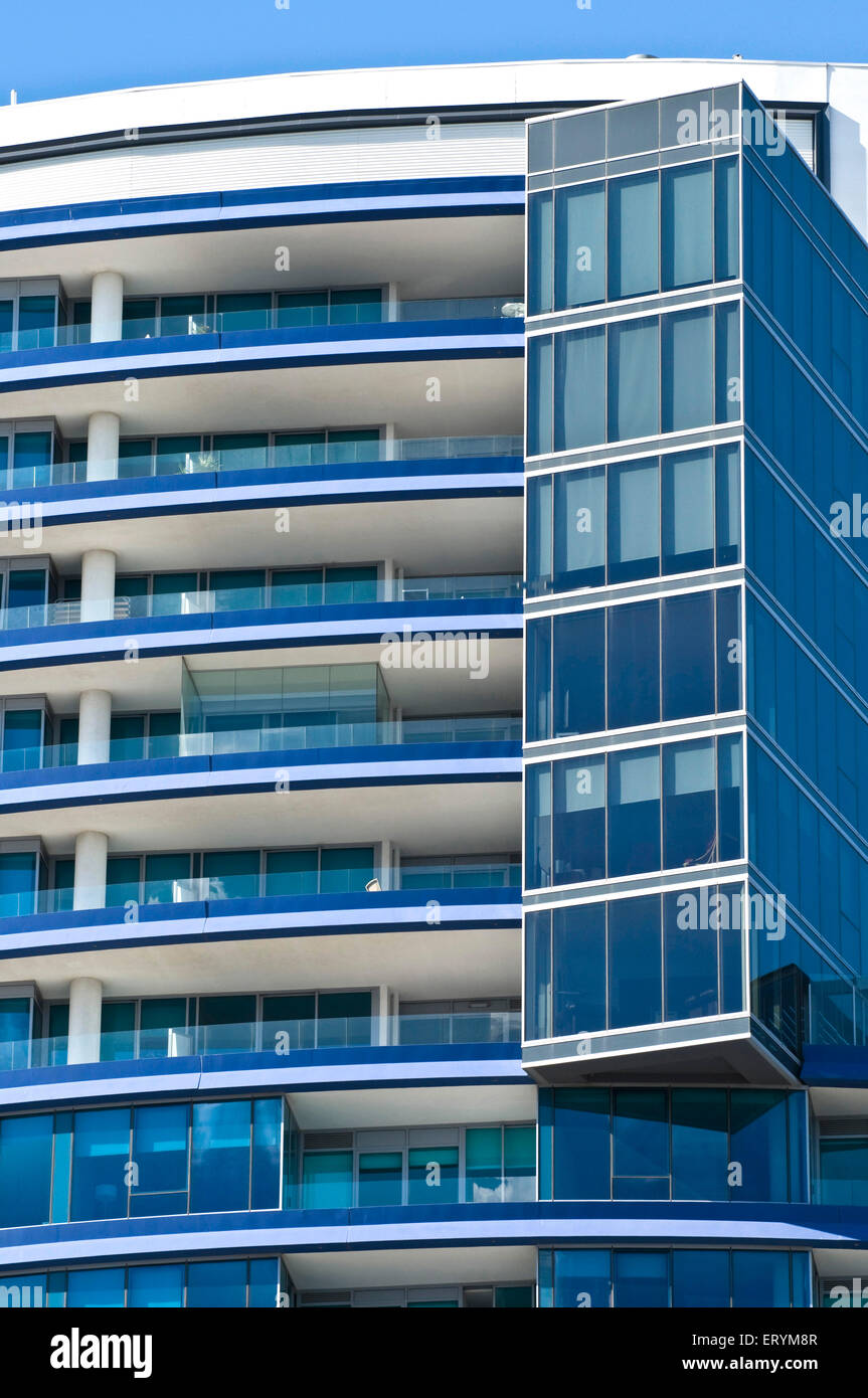 Designs in architecture form ; Melbourne ; Victoria ; Australia - Stock Image