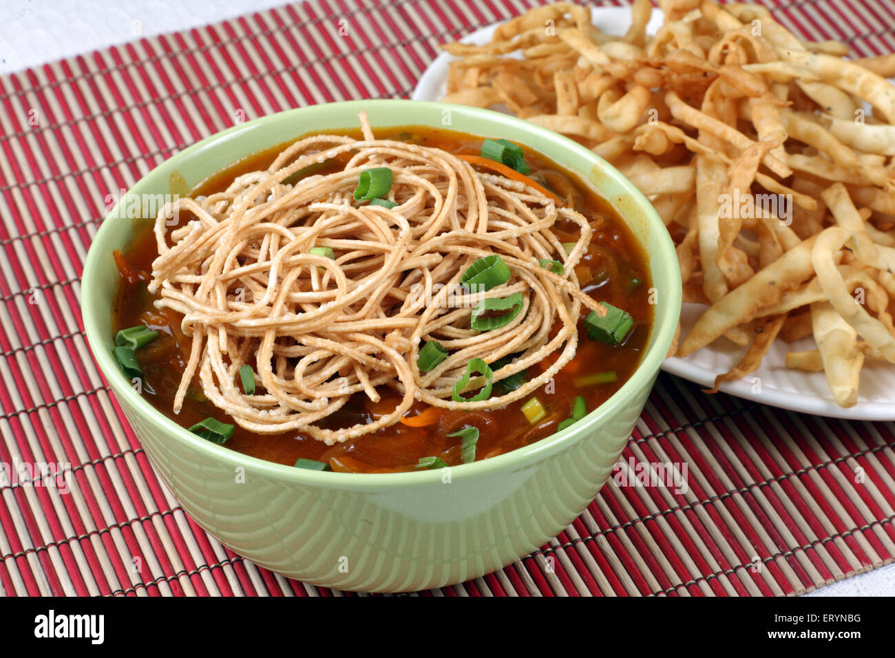 Chinese Food american chop suey noodles in bowl India PR#743AH - Stock Image